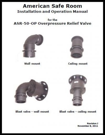 Overpressure valve technical manual