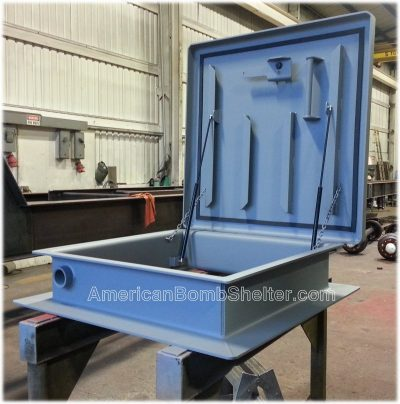 Custom 36 x 36 inch ballistic roof hatch