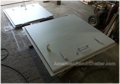 Solid steel door with outside operators