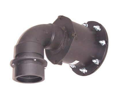 Overpressure valve on a wall in a bomb shelter
