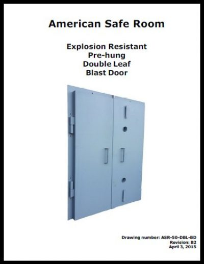 Double leaf blast doors - two sizes