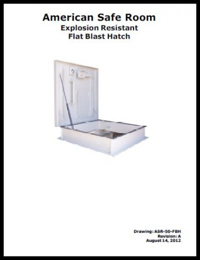 Manual for a flat blast hatch