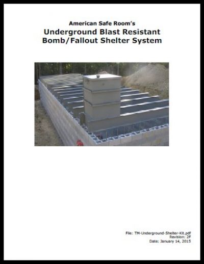 Underground shelter kit technical manual