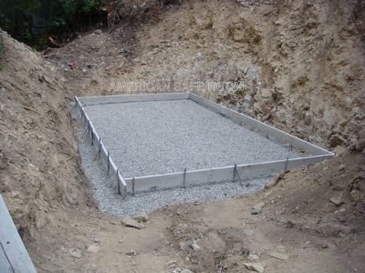 The floor pad is formed up